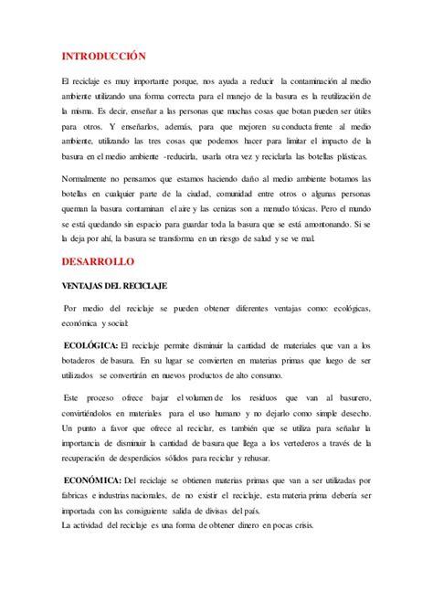 Gaby Mi Ensayo De Reciclaje | ensayo del reciclaje