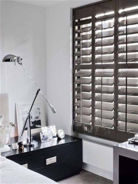 light grey wooden blinds gloss lacquered shutters shutters gallery blinds