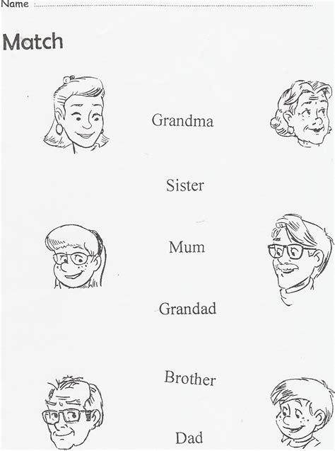 imagenes sensoriales en ingles la familia en ingles para colorear imagui fichas de