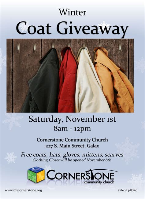 Winter Coat Giveaway - cornerstone coat drive cornerstone community church