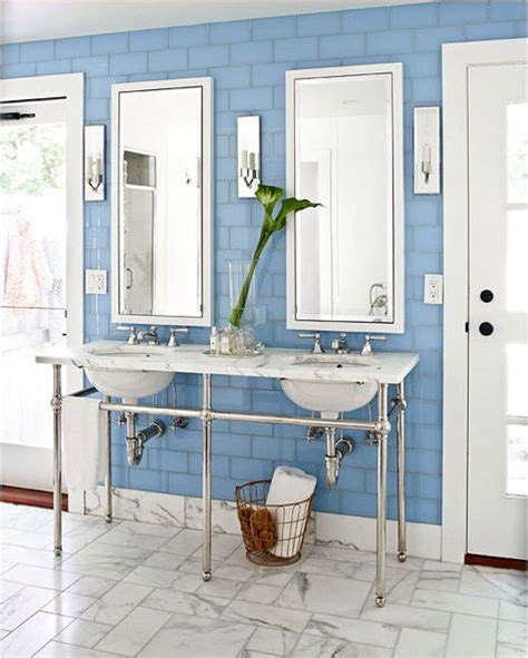 cornflower blue bathroom 1000 ideas about blue subway tile on pinterest subway