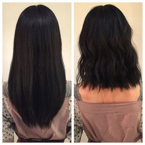 hair talk the lob the beauty department bloglovin before and after razor lob long bob textured hair