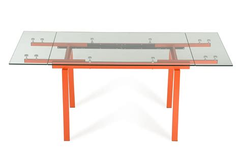 modern glass dining table modrest linus contemporary glass extendable dining table