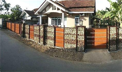 desain pagar rumah unik model desain pagar rumah minimalis batu alam terbaru