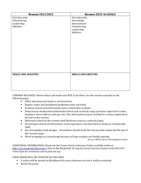 Resume Assignment by Assignment Resume Fall 2013 2 1