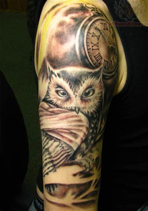 half sleeve owl tattoo design ideas tattoos
