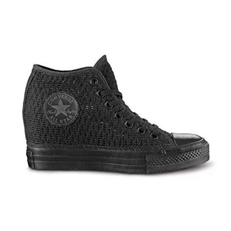 scarpe ginnastica con zeppa interna converse nere con zeppa interna