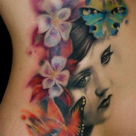 tattoo butterfly face face flower butterfly tattoo tattoo pinterest