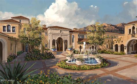 mediterranean mansions proposed spanish mediterranean estate in scottsdale az homes of the rich