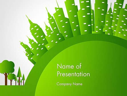 Green City Concept Powerpoint Template Backgrounds 14299 Poweredtemplate Com Green It Concept Ppt