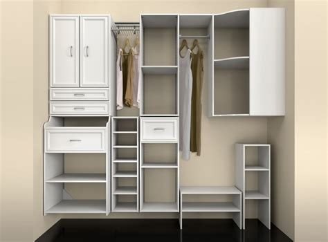 simple dressing room with closet cabinets closet