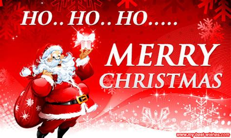 santa claus wishes  ho ho ho merry christmas image