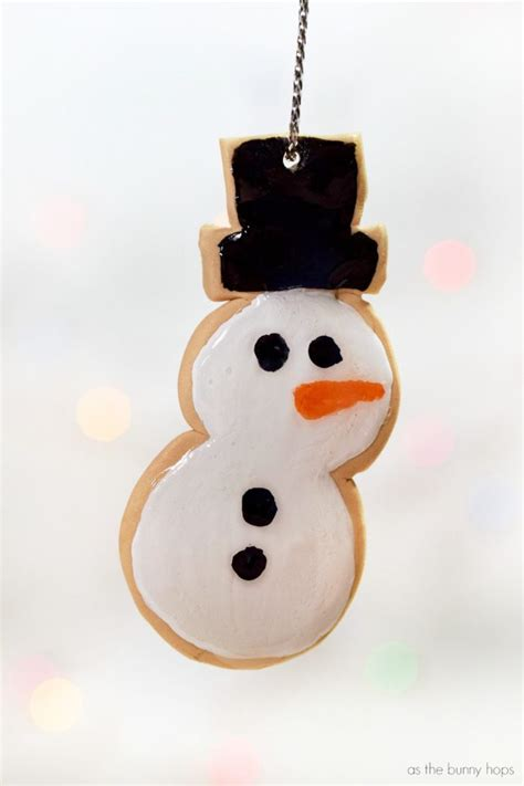 sugar clay ornaments polymer clay snowman sugar cookie ornament as the bunny hops 174