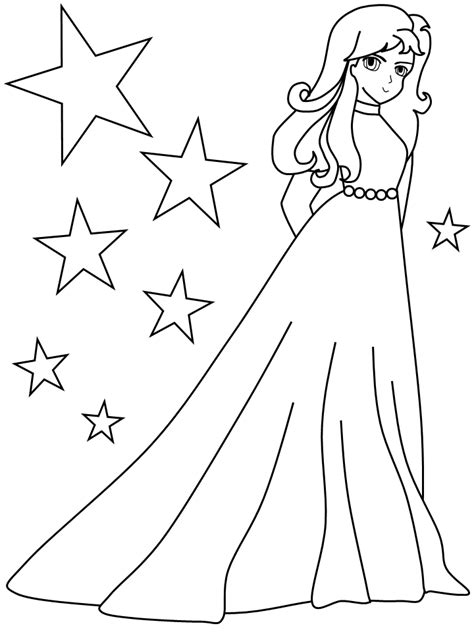 Girls Coloring Pages To Print   AZ Coloring Pages