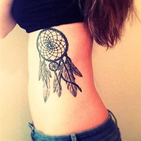 dream catcher tattoo rib cage 64 best and simple dreamcatcher tattoos