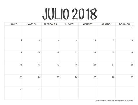 Calendario 2018 Y 2019 Calendarios 2018 Para Imprimir Minimalista