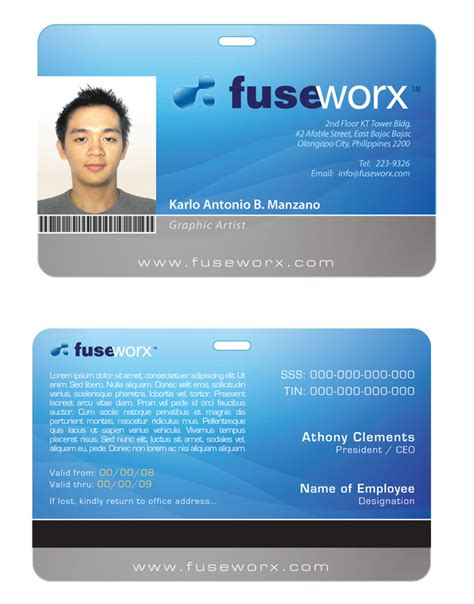 pvc id card template custom card template 187 pvc id card template free card