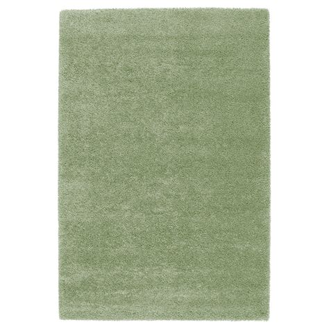and green rugs 197 dum rug high pile light green 133x195 cm ikea
