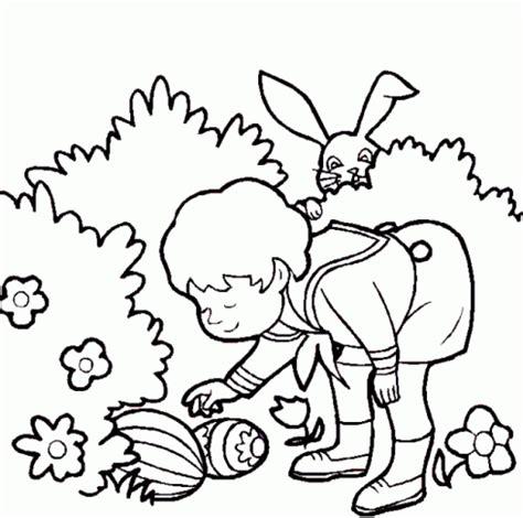 dessin de paques 224 colorier dessin de garcon lapin