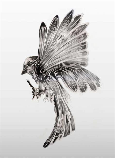 black and white bird tattoo designs unique black and white flying bird design