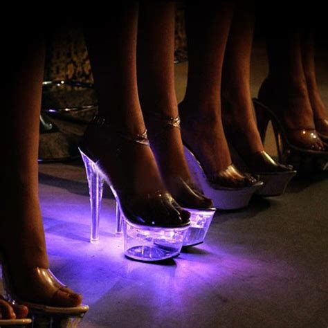Sh 3 Led Leopard Pink Shoes supply high heel shoes led light shoes buy light shoes high heel shoes