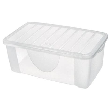 tesco shoe storage buy 9 6l plastic shoe storage box from our boxes range tesco