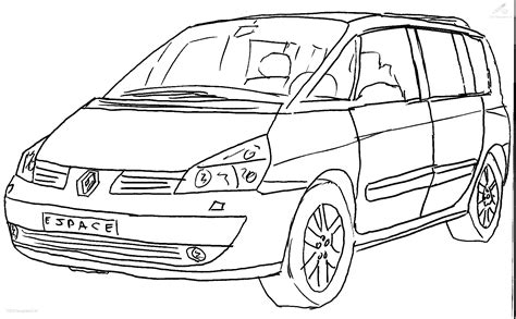 Kleurplaat Renault Vw Coloring Page