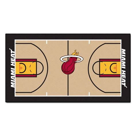 Home Decor Store San Antonio by Fanmats Miami Heat Nba 2 Ft X 3 Ft 8 In Nba Court Rug