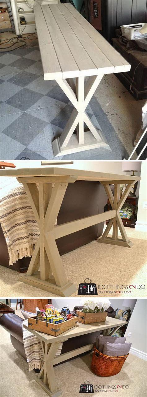 diy sofa table ideas 20 easy diy console table and sofa table ideas hative