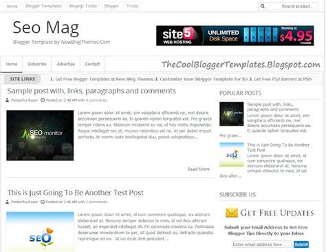 Seo Mag Blogger Template Seo Template