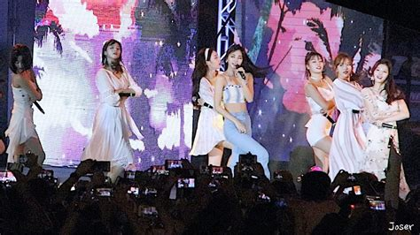 twice guam 181201 twice quot dance the night away quot fancam guam 괌 k pop