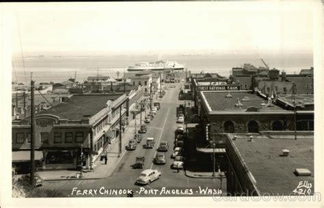 ferry chinook port angeles wa postcard