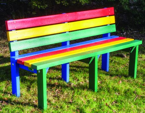 benches for school playgrounds adult reston three seat bench weatherproof recycled