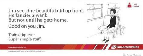 Queensland Rail Memes - best of the train etiquette super simple stuff meme