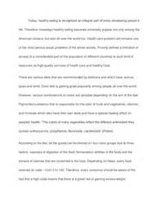 Diet Essay by One Color Vs Different Color Diet Sle Paper Essay