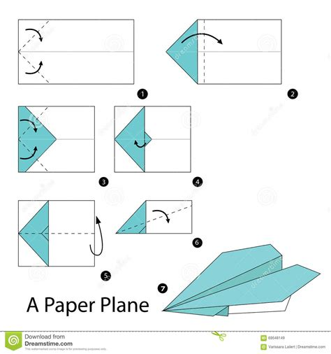 How To Make A Origami Paper Plane - step by step how to make origami a paper