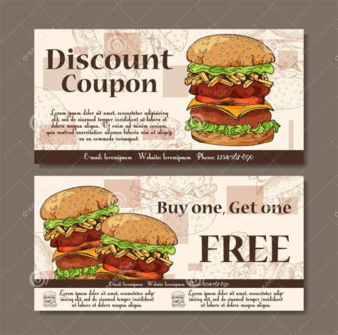 food restaurant coupons printable 12 food coupon designs design trends premium psd