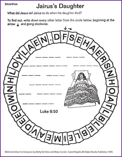 coloring page jesus raises jairus 31 best images about jairus on
