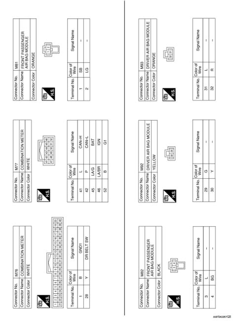 nissan rogue service manual wiring diagram srs airbag
