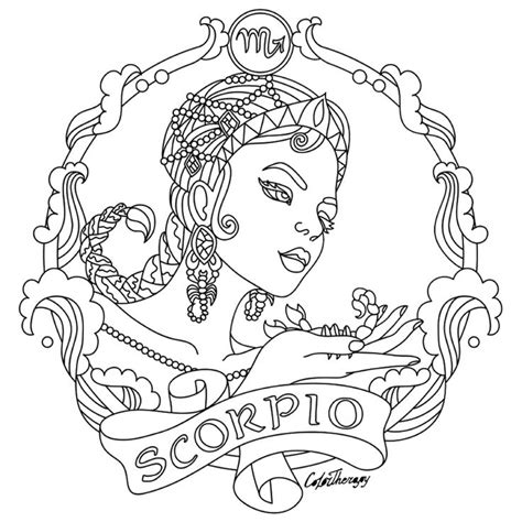 zodiac coloring pages 350 best adult colouring zodiac signs images on pinterest