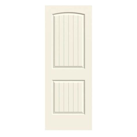 30 X 80 Interior Door Jeld Wen 30 In X 80 In Smooth 2 Panel Arch Top V Groove Solid Painted Molded Interior