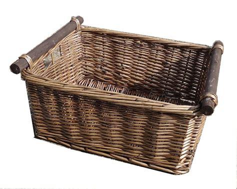 kitchen baskets kitchen log decorative full wicker storage basket xmas