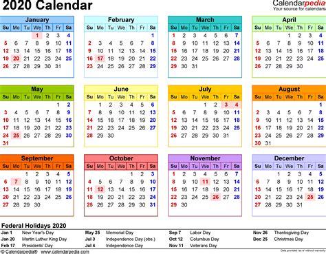 calendar  printable microsoft excel templates