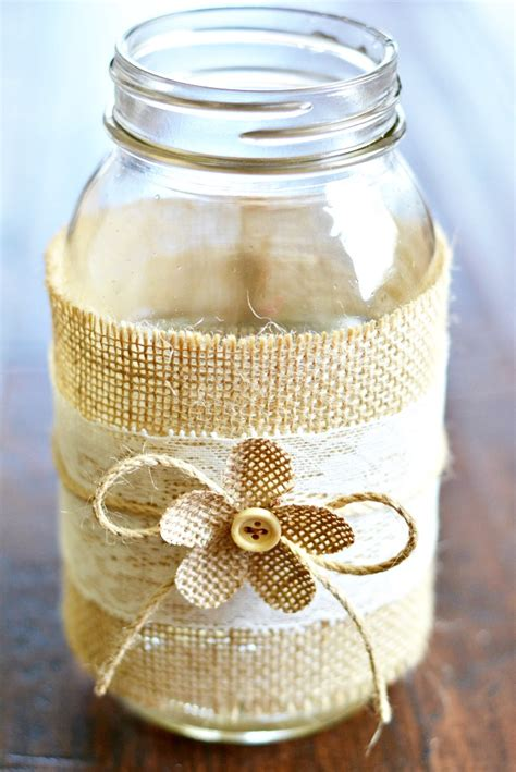 jar and burlap centerpieces jar centerpieces with burlap lace