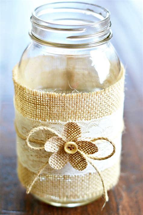 jar burlap centerpieces jar centerpieces with burlap lace