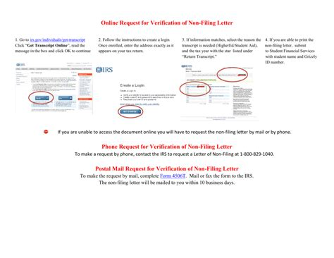 Verification Of Nonfiling Letter 2012 Irs Non Filing Letter Fax Docoments Ojazlink