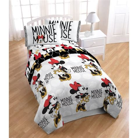 minnie mouse twin bed in a bag disney minnie mouse twin bed in a bag 5 piece bedding set