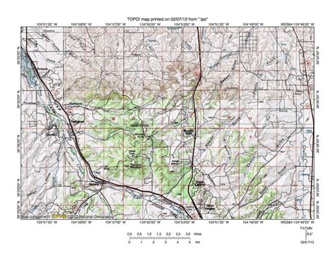 palmer divide colorado map cherry creek plum creek drainage divide area landform
