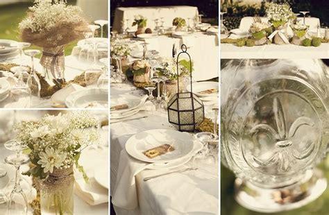 rustic chic wedding decor jar centerpieces onewed com