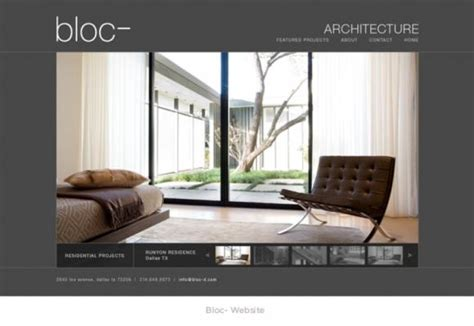 homepage architecture interier design product design website design
